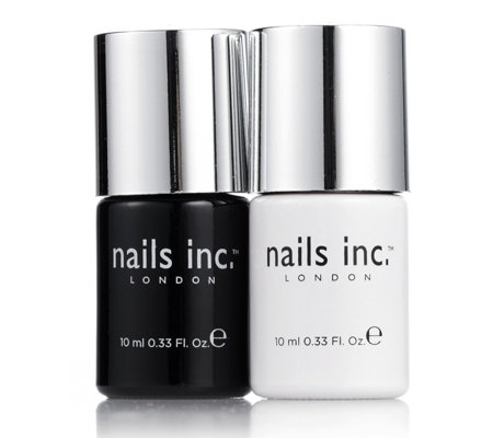 Nails Inc 2 Piece Kensington Caviar Base & Topcoat