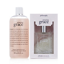 Philosophy 2 Piece Amazing Grace EDT Snow Globe Collection
