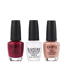 OPI 3 Piece Classics Lacquer With RapiDry Top Coat