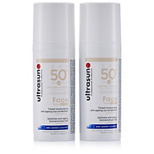Ultrasun Sun Protection Tinted Face SPF50+ 50ml Duo
