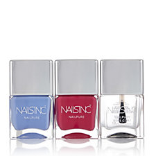 Nails Inc 3 Piece Nail Pure Brights Collection