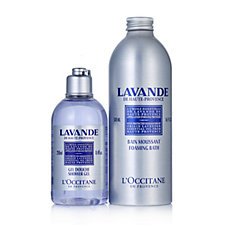 L'Occitane Lazy Lavender Evenings Foam Bath & Shower Gel Duo