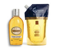 L'Occitane Almond Shower Oil 250ml & Eco Refil 500ml
