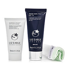 Liz Earle Sheer Skin Tint &  Cleanse & Polish