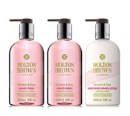 Molton Brown Rhubarb & Rose 3 Piece Hand Wash & Lotion Collection