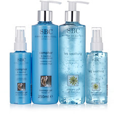 SBC 4 Piece Cooling Home & Away Skincare Collection