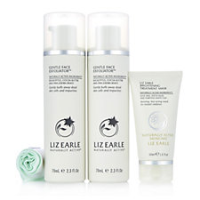 Liz Earle Face Exfoliator Duo and Brightening Treatment