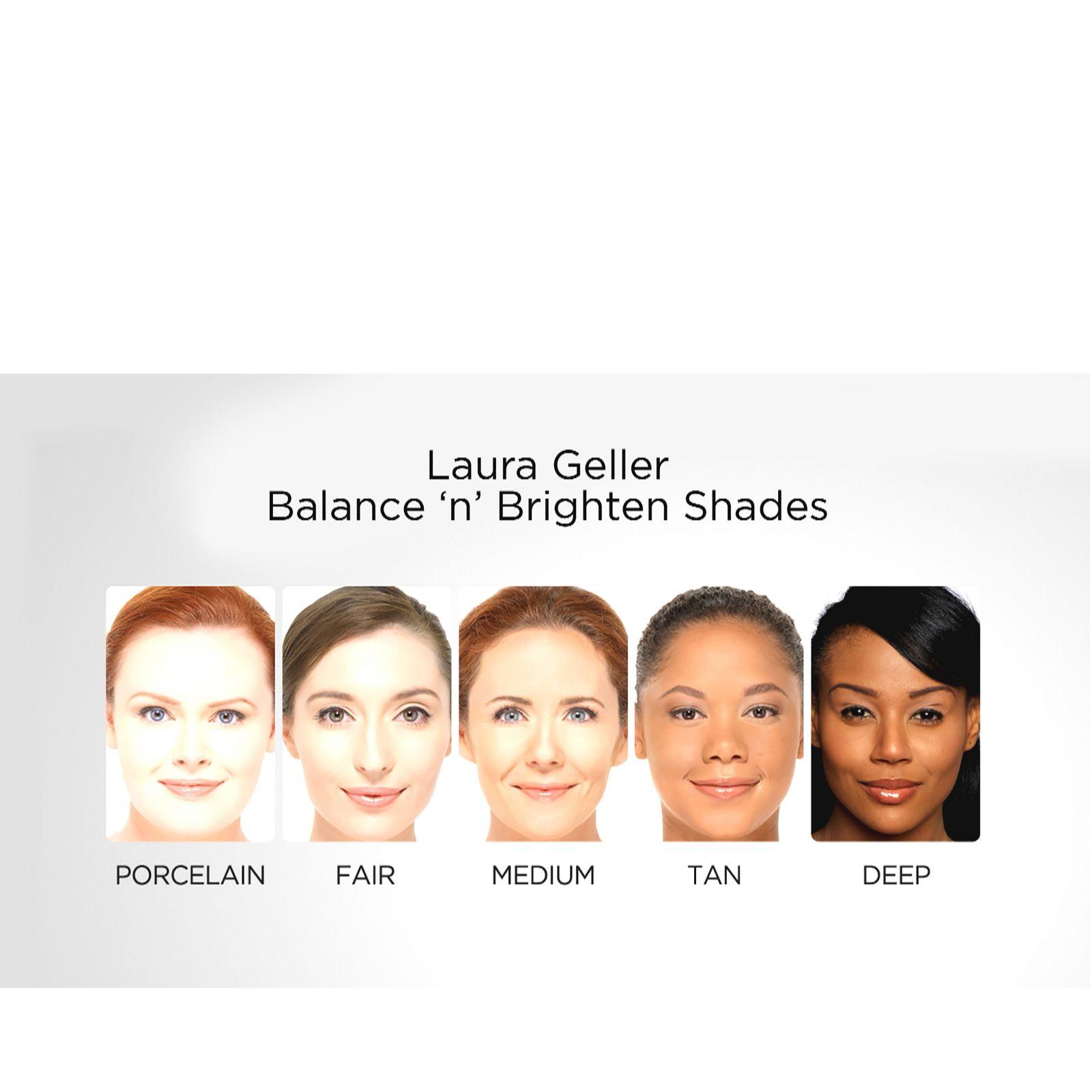 Laura Geller Balance-n-Brighten Baked Foundation 9g & Brush - QVC UK