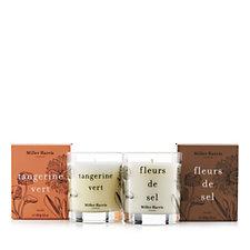 Miller Harris Tangerine Vert & Fleurs De Sel Candle Duo