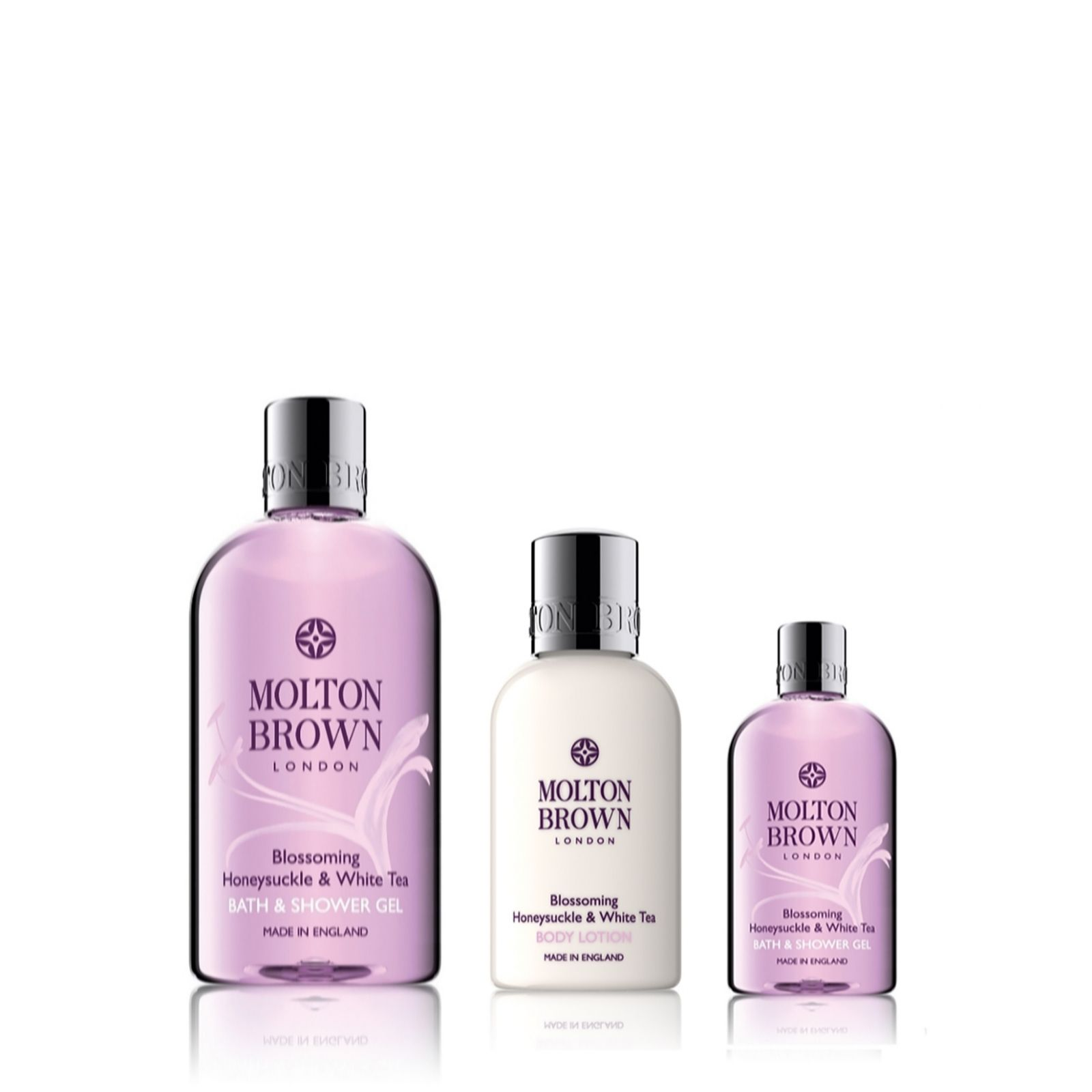 molton brown blossoming honeysuckle white tea 3 piece body molton brown blossoming honeysuckle white tea 3 piece body collection qvc uk