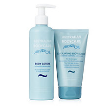 Australian Bodycare Exfoliating Body Scrub 150ml & Lotion 250ml Duo