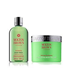 Molton Brown Exhilarating Eucalyptus Body Wash & Body Polisher