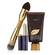 tarte Amazonian Clay Foundation and Waterproof Concealer & Brush