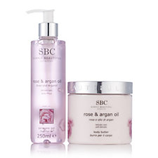 SBC 2 Piece Rose & Argan Oil Body Butter & Gel Collection