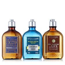 L'Occitane Set of 3 Men's Shower Gel