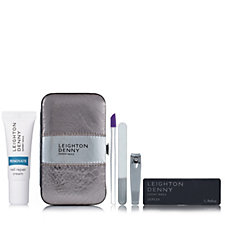 Leighton Denny Snakeskin Effect Manicure Case & Renovate
