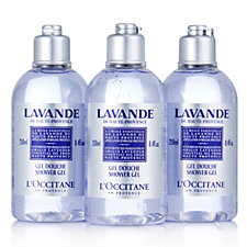 L'Occitane Lavender Shower Gel 250ml Trio