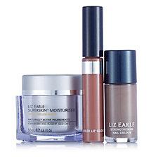Liz Earle Superskin Moisturiser With Lip Gloss & Nail Polish Duo