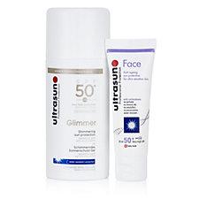Ultrasun Sun Protection Glimmer SPF50 100ml & Face SPF50 25ml