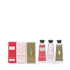 L'Occitane Set of 3 Mini Fragrance & Hand Cream Christmas Crackers