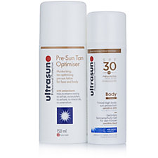 Ultrasun Pre-Sun Tan Optimiser 150ml & Tinted Body SPF30 150ml