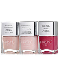 Nails Inc 3 Piece Perfect Pinks Nailcare Collection
