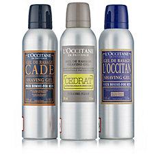 L'Occitane Men's Shave Gel Trio