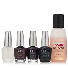 OPI 4 Piece Mini Infinite Shine Collection & 30ml Acetone Remover