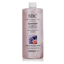 SBC Supersize Lavender & Waterlily Bath & Shower Creme