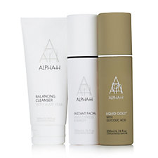 Alpha-H 3 Piece Cleanse, Peel & Exfoliate Skincare Collection