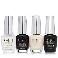 OPI 4 Piece Christmas Infinite Shine Snow Glad I Met You Collection