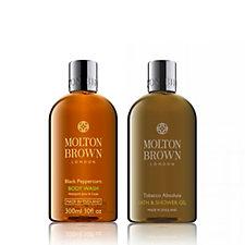 Molton Brown Black Pepper & Tobacco 300ml Body Wash Duo