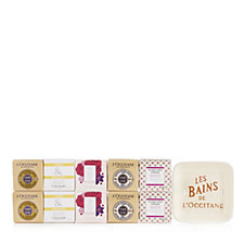 L'Occitane 10 Piece Soap Collection With Soap Dish