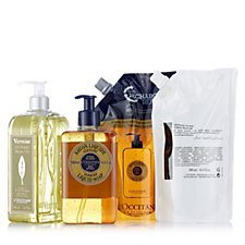 L'Occitane 4 Piece Supersize Verbena Shower Gel & Liquid Soap Collection