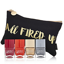 Nails Inc 4 Piece All Fired up Gel Collection with bag