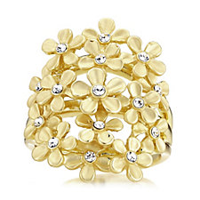 Roberto by RFM Giardino Crystal Flower Ring