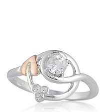 Clogau 9ct Gold Sterling Silver White Topaz Tree of Life Origin Ring