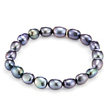 Honora 8-9mm Cultured Baroque Pearl Stretch Bracelet