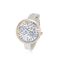 Pilgrim Patterned Face Silicone Strap Watch