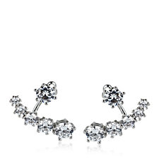 loveRocks Crystal Ear Jacket Earrings