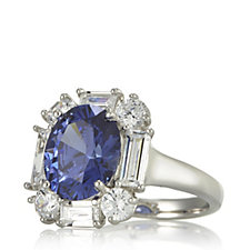 306601 - Diamonique 7.5ct tw Simulated Tanzanite Cocktail Ring Sterling Silver