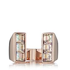 Aurora Swarovski Crystal Nearly There Open Ring