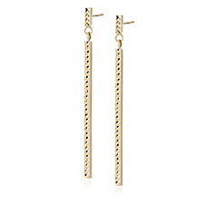 9ct Gold Diamond Cut Drop Earrings