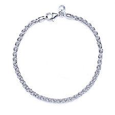Bianca Platinum Plated Spiga 20cm Bracelet Sterling Silver