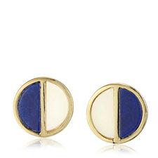 Lola Rose Boutique Garbo Divided Circle Semi Precious Earrings