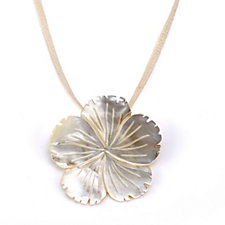 Lola Rose Mother of Pearl Flower Pendant 50cm Necklace