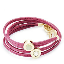 Sence Copenhagen Breast Cancer Care Wrap Leather Bracelet