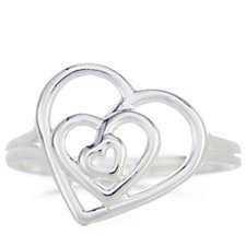Links of London Trinity Heart Ring Sterling Silver
