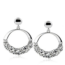 Loverocks Scatter Crystal Circle Drop Earrings