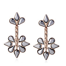 305602 - Pilgrim Hematite Flower Earrings